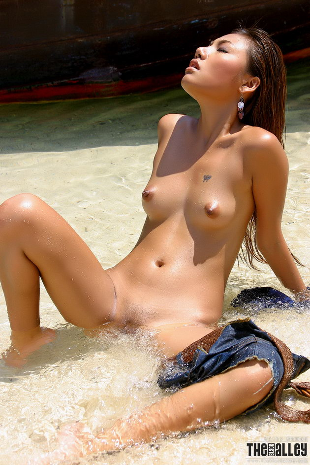 Asian bikini nipple