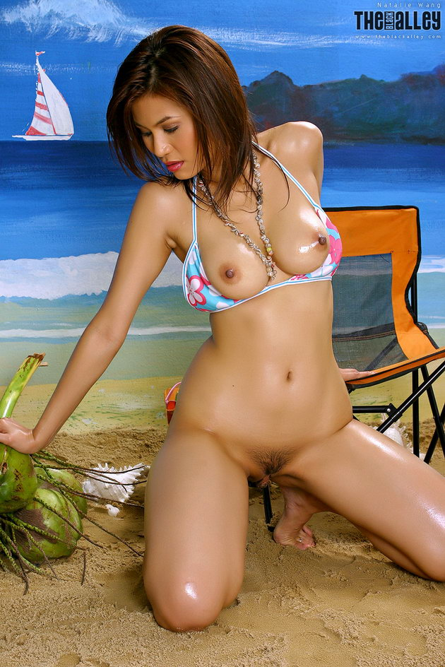 She Asian bikini nipple